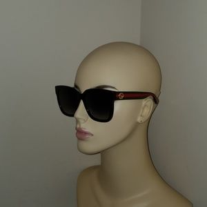 479f16b993a Gucci Accessories - GUCCI GG0034S 002 Black-Green-Red Grey Gradient Le